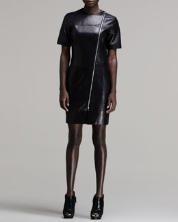 Alexander Wang Zip-Front Leather Dress
