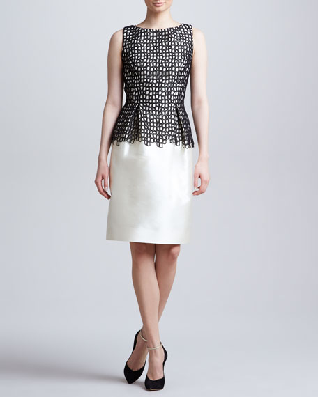 Lace-Bodice Sheath Dress