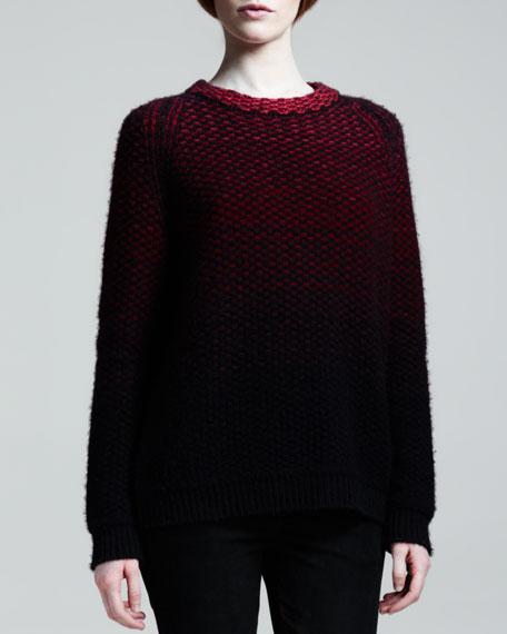 Ombre Cashmere Crewneck Sweater