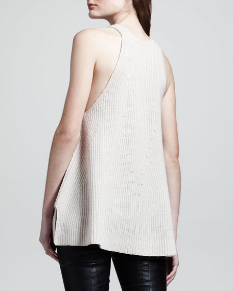 Ribbed Merino-Cashmere Top