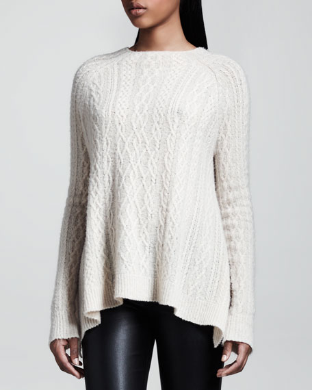 Cable-Knit Swing Sweater