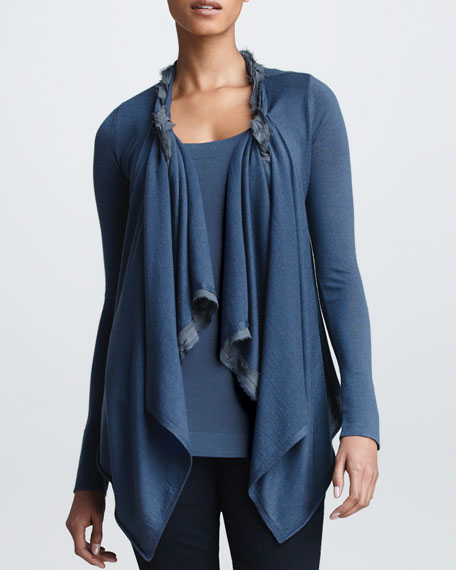 Twisted Double-Layer Cozy, Slate Blue