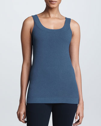 Slim Tank Top, Slate Blue