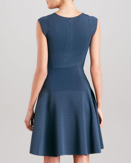 Fit & Flare Dress, Slate Blue