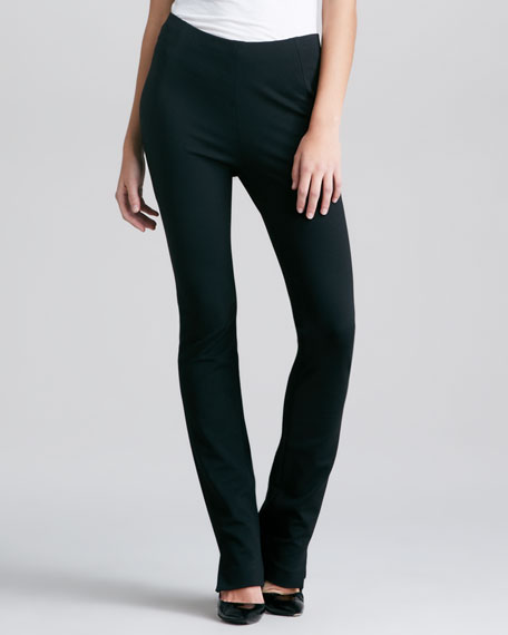 Structured Slim Jersey Body Pants I, Black