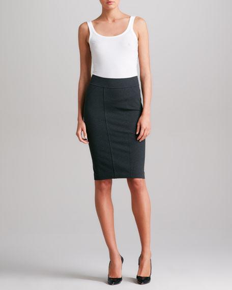 Pieced Pencil Skirt, Charcoal