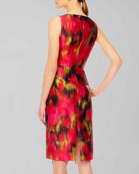 Printed Shantung Dress