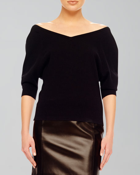 Off-The-Shoulder Cashmere Top