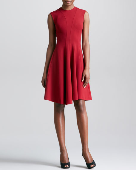 Fit-and-Flare Knit Dress