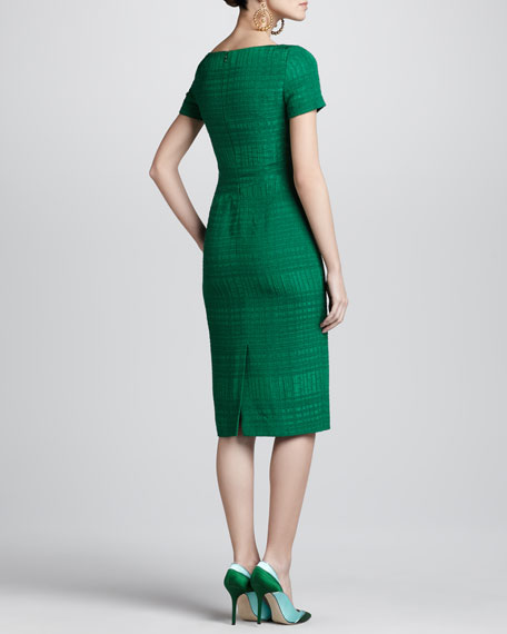 Boucle Jacquard Sheath Dress, Ivy