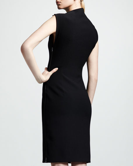 Asymmetric Jersey Dress