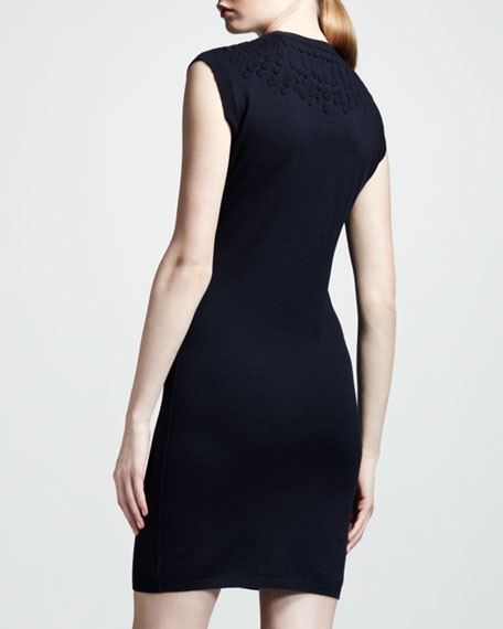 Jewel-Embossed Sheath Dress