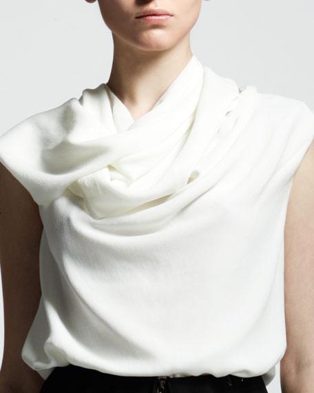 Wrap-Scarf Blouse