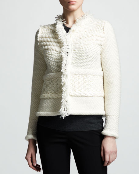 Patchwork Knit Jacket