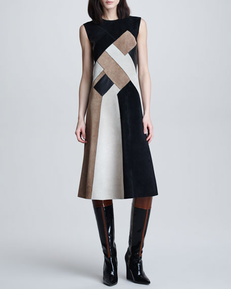 Mosaic Suede Dress