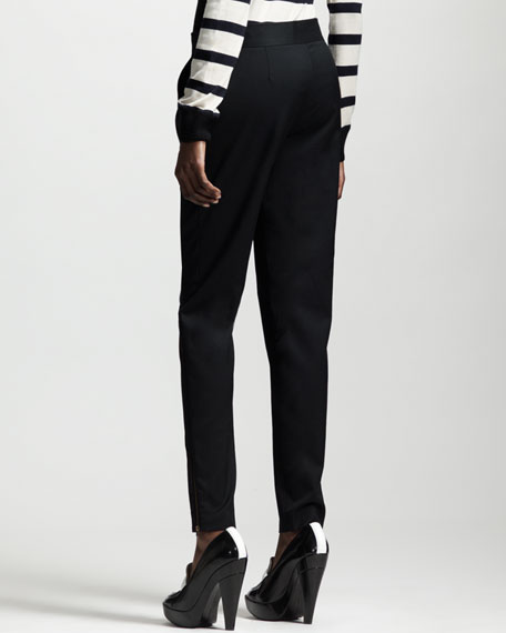 Slim Tropical Wool Pants