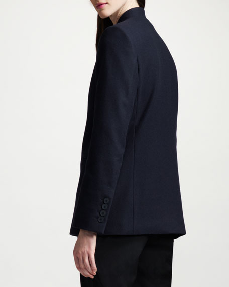 One-Button Inverted Lapel Blazer