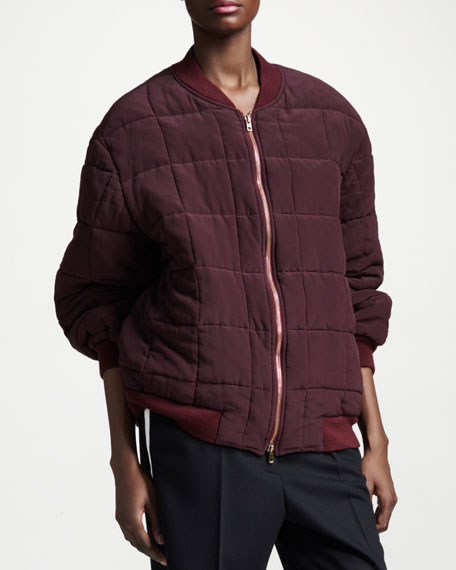 Boxy Quilted Bomber Jacket
