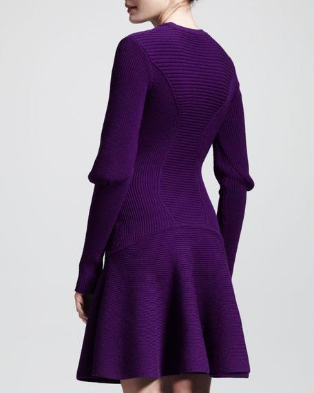 Ribbed Knit Snood Dress