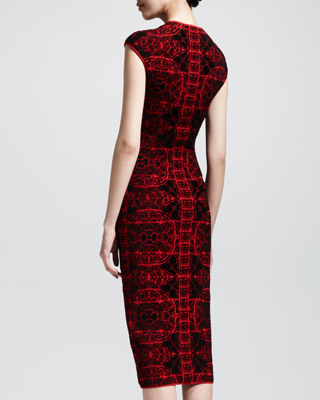 Stained Glass Knit Sheath Dress