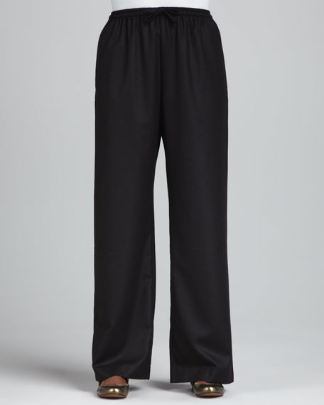 Drawstring Trousers, Brown