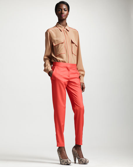 Tapered Pants, Vermillion