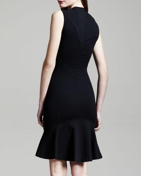 Sleeveless Yoked Flounce Dress