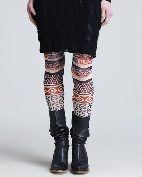 Printed Tulle Leggings