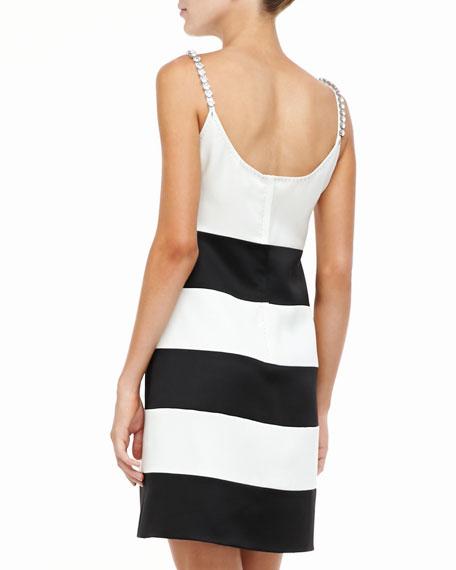 Embellished-Shoulder Tank Dress