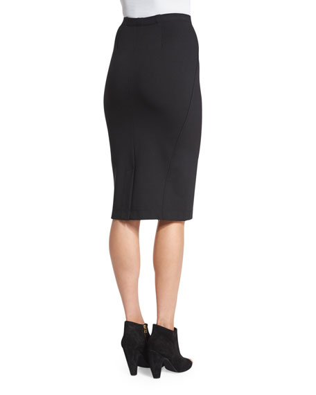Pull-On Knit Pencil Skirt