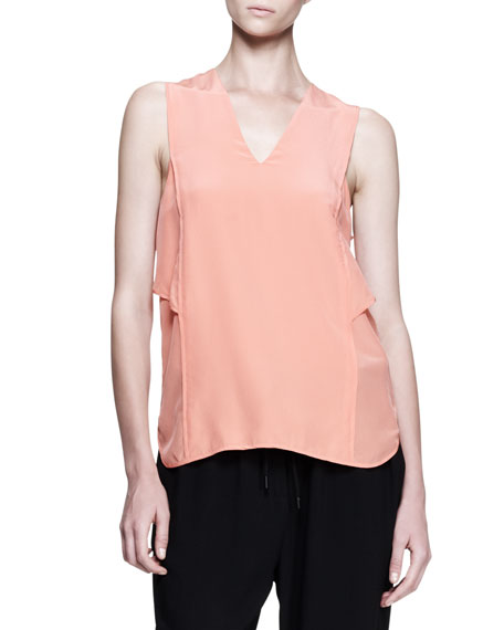 Cross-Back Shirttail Tank