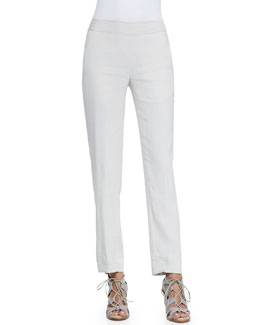 Cropped Tailored Pegged-Legged Pants