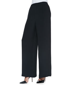 Flared Trousers, Black