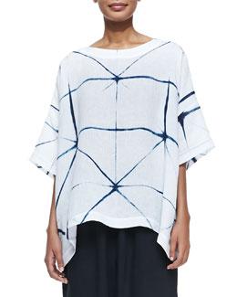 3/4-Sleeve Tie-Dye Tunic