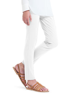 Melissa Slim-Fit Techno Pants, Barite