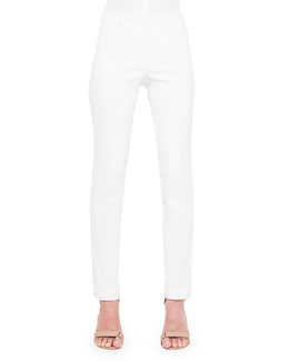 Fabiana Techno Cotton Pants, Creme