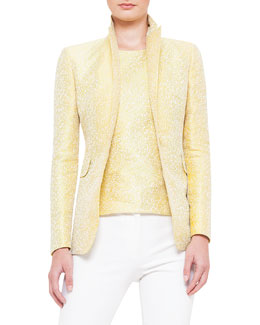 One-Button Jacquard Jacket