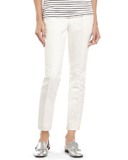 White Techno Cotton Stretch Drill 60's Pant
