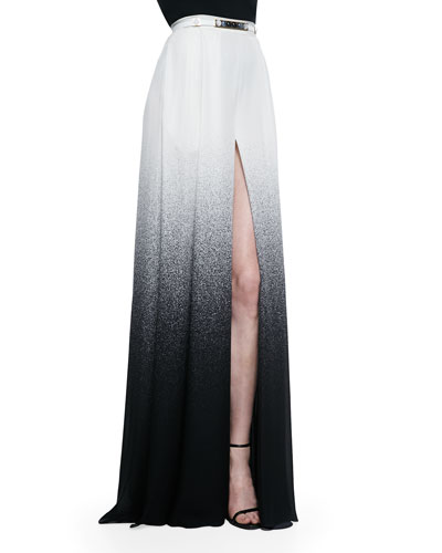 Long Slit-Front Degrade Skirt