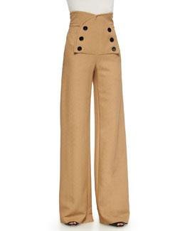 High-Rise Sailor Pants, Camel