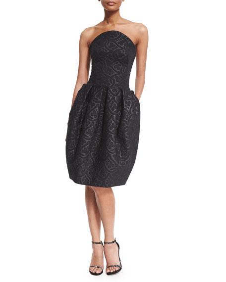 Strapless Clover Scuba Dress
