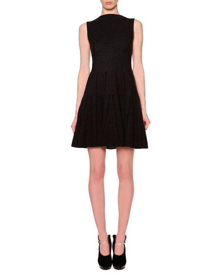 Giorgio Armani Godet-Pleated Fit-And-Flare Dress