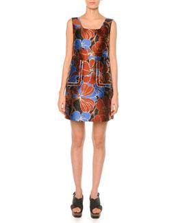 Pimpernel Blossom Jacquard Dress , Raisin