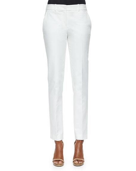 Straight Broadcloth Skinny Pants