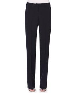 Flat-Front Seersucker Pants