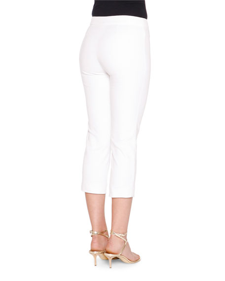 Mid-Rise Cropped Pants, Bianco Ottico