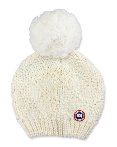 Oversized Wool Pompom Beanie Hat
