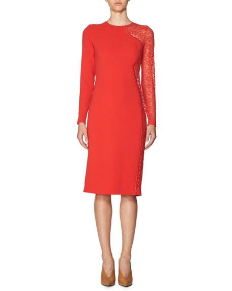 828392e80d Stella McCartney Lace-Side Long-Sleeve Dress