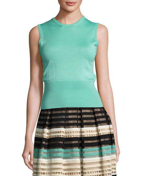 Classic Sleeveless Shell, Light Green