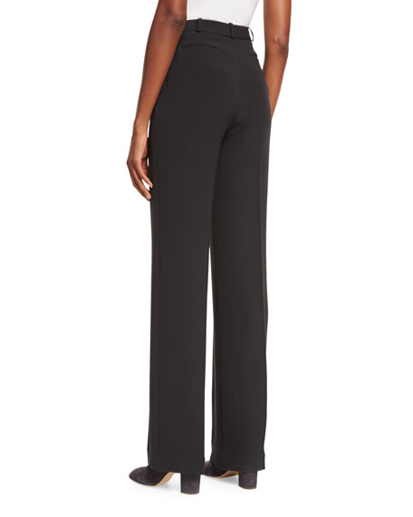 Lawrence Silk Wide-Leg Pants